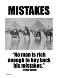 Mistakes Poster von Wilbur Pierce