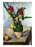 Still Life with Tulips and Apples Posters by Paul Cezanne