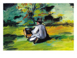 Painter At Work Posters by Paul Cezanne