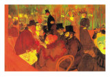 In The Moulin Rouge Art by Henri de Toulouse-Lautrec