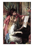Girls At The Piano Prints by Pierre-Auguste Renoir