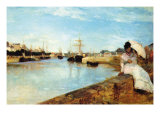Port At Loby Print by Berthe Morisot