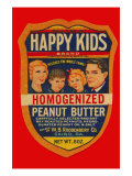 Happy Kids Homogenized Peanut Butter Prints