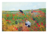 Mohnblumen Poster von Mary Cassatt