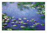 Vandliljer Posters af Claude Monet