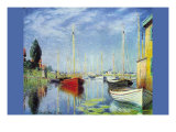 Pleasure Boats At Argenteuil Posters van Claude Monet