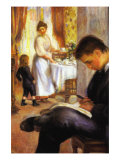 Breakfast At Berneval Poster by Pierre-Auguste Renoir