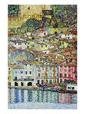 Malcesine bij het Gardameer Print van Gustav Klimt