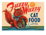 Fuzzy Wuzzy Brand Cat Food Print