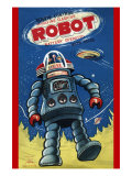 Remote Control Revolving Flashing Robot Posters