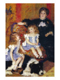 Madame Charpentier and Her Children Posters by Pierre-Auguste Renoir