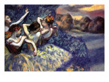 Four Dancers Prints by Edgar Degas