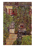 The House of Guard Poster van Gustav Klimt