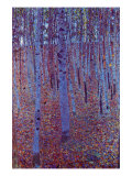Beech Forest Affiche par Gustav Klimt