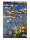 Water Lilies No. 3 Kunst av Claude Monet