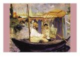 Claude Monet Dans Son Bateau Atelier Prints by Édouard Manet
