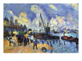 Seine At Bercy Prints by Paul Cézanne