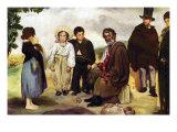 The Old Musician Affiches par Édouard Manet