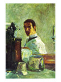 Self Portrai Looking In a Mirror Arte por Henri de Toulouse-Lautrec