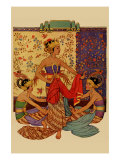 Javanese Girls Examne Fabric Posters