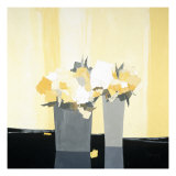 Fleurs Jaunes Prints by  Monestier