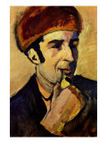 Portrait of Franz Marc Print by Auguste Macke