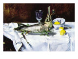 Still Life with Salmon Posters by &#201;douard Manet