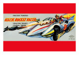 Mach Rocket Racer Poster