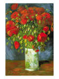 Red Poppies Print by Vincent van Gogh
