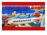 "Battery Operated Monorail ""Rocket Ship"" Print"