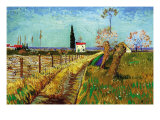 Path Through a Field with Willows Poster van Vincent van Gogh