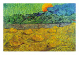 Rising Moon Poster by Vincent van Gogh