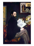 Portrait of Emile Zola Poster by &#201;douard Manet