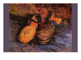 Apair of Shoes Print by Vincent van Gogh