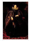 Portrait of Marchesa Balbi Poster von Sir Anthony Van Dyck