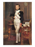 Portrait of Napoleon In His Work Room Posters av Jacques-Louis David