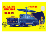 Satellite Launching Car A2 Posters