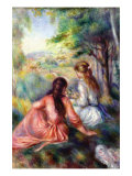 In The Meadow Poster by Pierre-Auguste Renoir