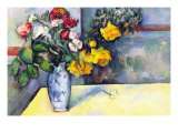 Still Life with Flowers In a Vase Prints by Paul Cézanne