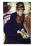 Portrait of Miss. Cassatt Prints by Edgar Degas