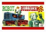 Robot Bulldozer Posters