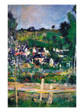 Village Behind The Fence Prints by Paul Cezanne