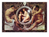 Idyll Kunstdrucke von Gustav Klimt