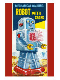 Mechanical Walking Robot with Spark Poster