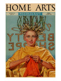 Woman In Curlers Knits Posters