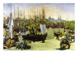 Port of Bordeaux Prints by Édouard Manet