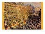 Boulevard of Capucines In Paris Print by Claude Monet