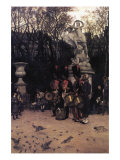 The Return March In The Tuileries Print by James Tissot