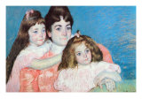 Madame A.F. Aude with Her Two Daughters Photo by Mary Cassatt