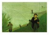 Anglers On The Rhine Posters by Auguste Macke